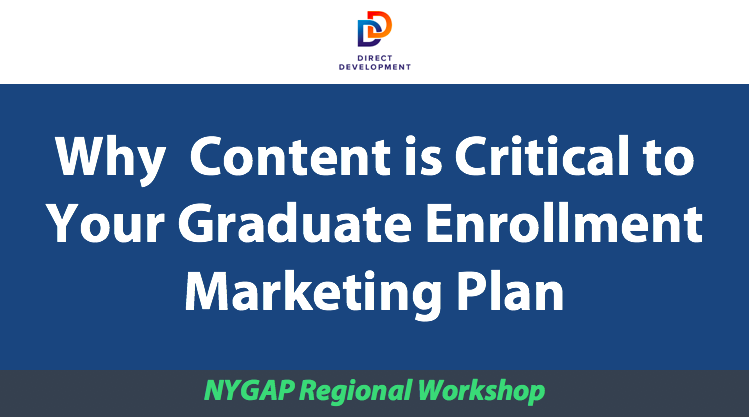 Why Content is Critical to Your Graduate Enrollment Marketing Plan
