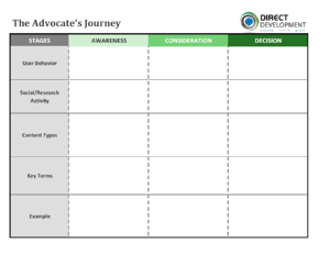 The Advocate Journey Worksheet (blank)