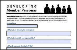 Member Persona Worksheet
